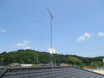 アンテナマイスター茨城 落雷で故障したアンテナの修理